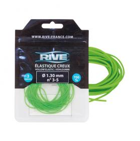 GUMA RIVE PUSTA (HOLLOW ELASTIC  1.30MM X 3M  GREEN) 76 02 13